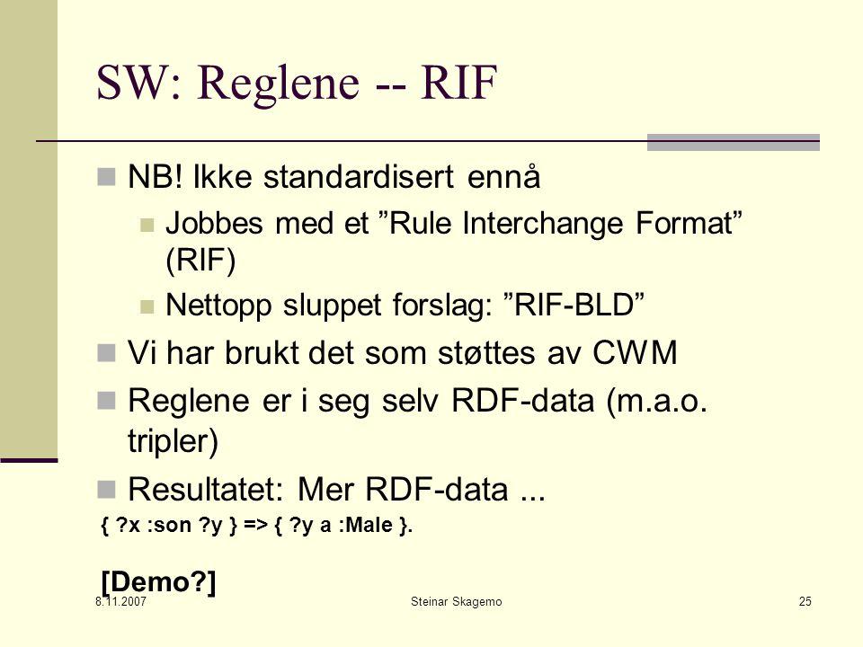 8.11.2007 Steinar Skagemo25 SW: Reglene -- RIF NB.