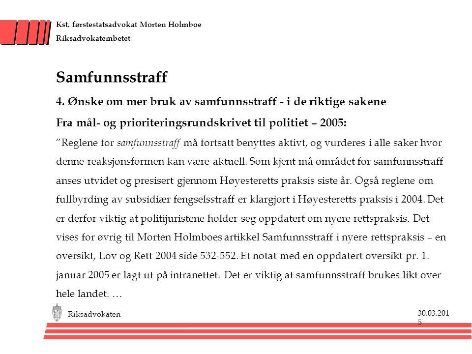 30.03.201530.03.2015 Riksadvokaten Kst.