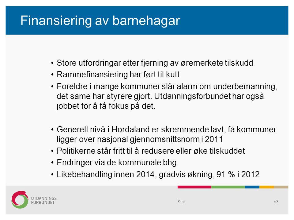 Budsjettsats kommunale bhg 0-3 år 2011 Tittelen endres i Topp- og Bunntekst... s4