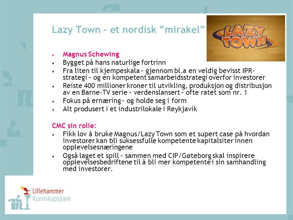 """Lazy Town – et nordisk """"mirakel"""" Magnus Schewing Bygget på hans naturlige fortrinn Fra liten til kjempeskala – gjennom bl.a en veldig bevisst IPR- str"""