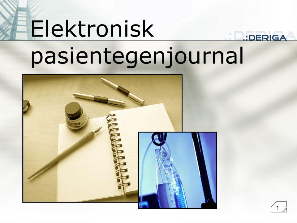 1 Elektronisk pasientegenjournal
