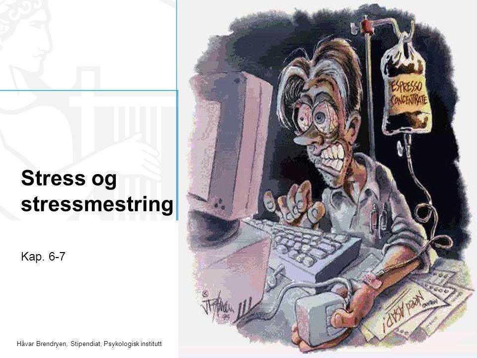 Håvar Brendryen, Stipendiat, Psykologisk institutt Kroniske stresskilder Leve i fattigdom, lav SES, dårlige relasjoner, stressende jobb, diskriminering etc.