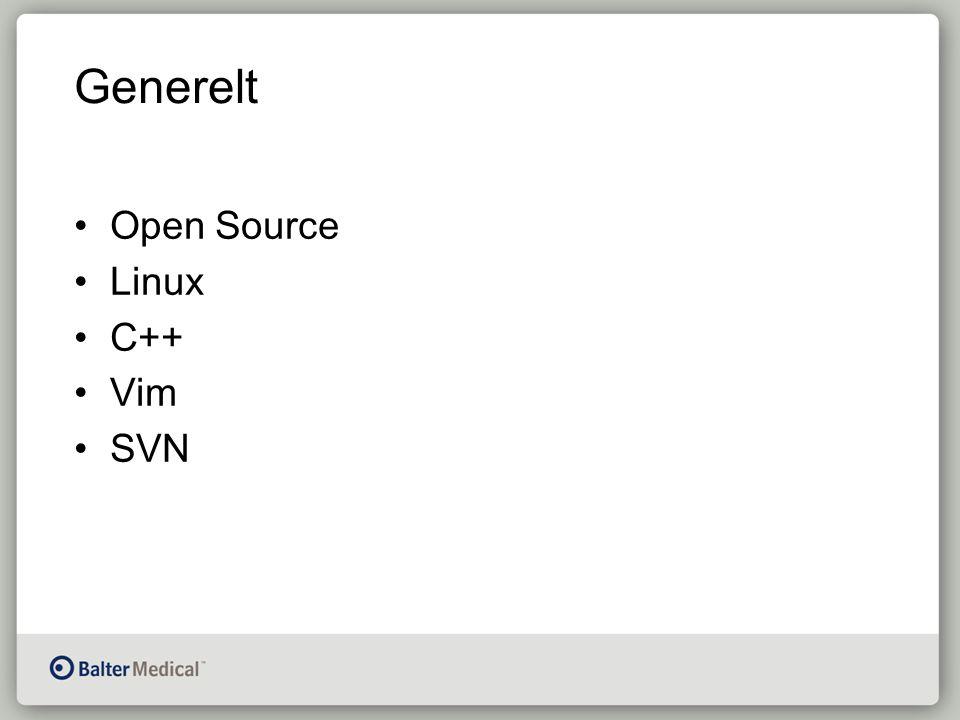 Generelt Open Source Linux C++ Vim SVN