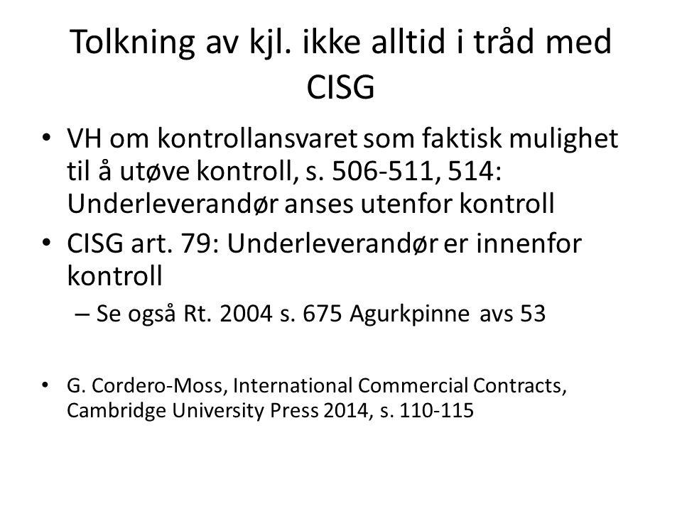 Kontraktslovgivning inspirert av kjøpsloven – Håndverkertjenestelov - hvtjl., LOV-1989-06-16- 63 – Avhendingslova - avhl., LOV-1992-07-03-93 – Bustadoppføringslova - buofl., LOV-1997-06-13- 43 – Husleieloven - husll., LOV-1999-03-26-17 – … Anses ofte som uttrykk for almenne prinsipper – Rt.