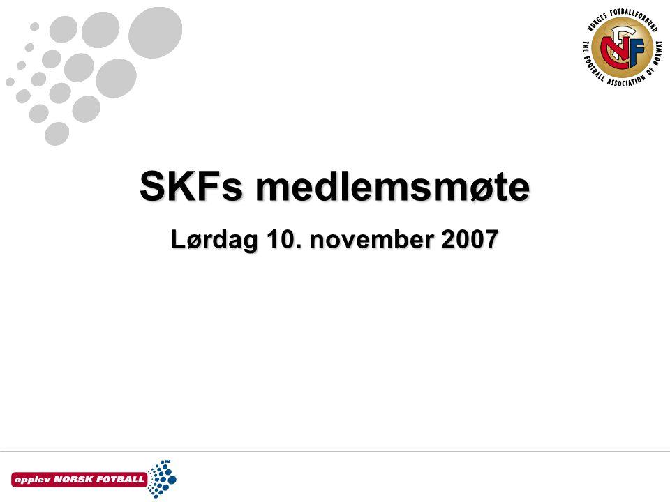 SKFs medlemsmøte Lørdag 10. november 2007