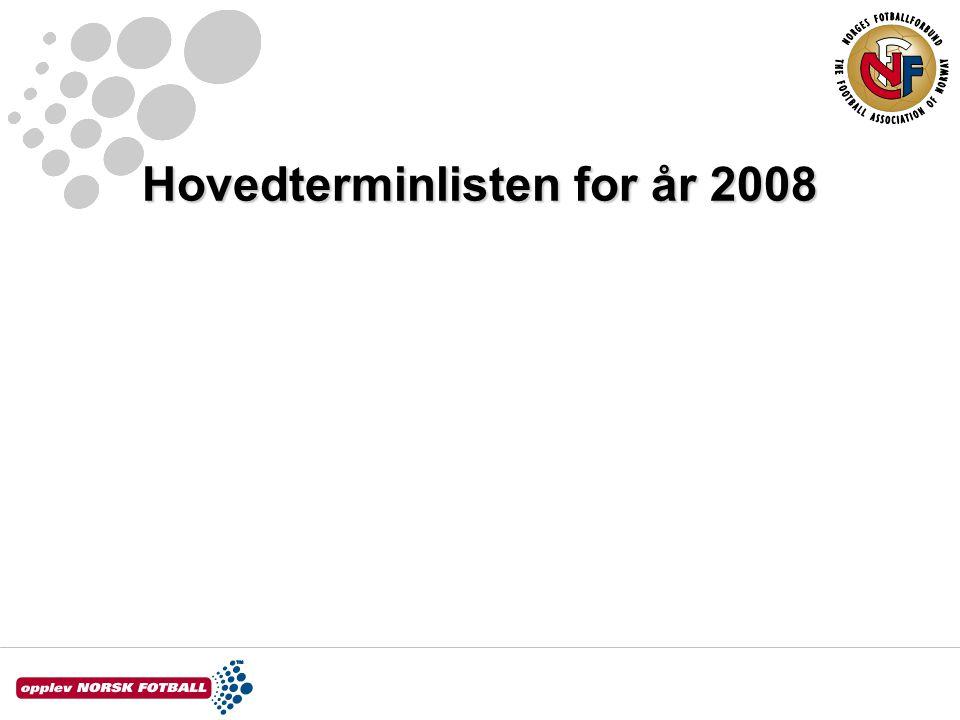 Hovedterminlisten for år 2008