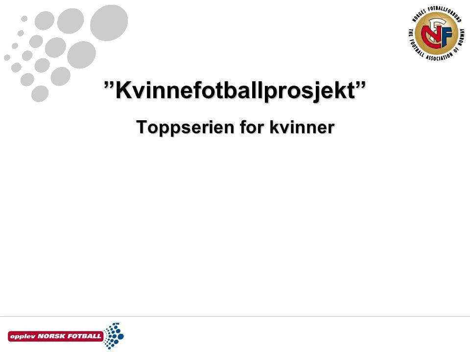 Kvinnefotballprosjekt Toppserien for kvinner