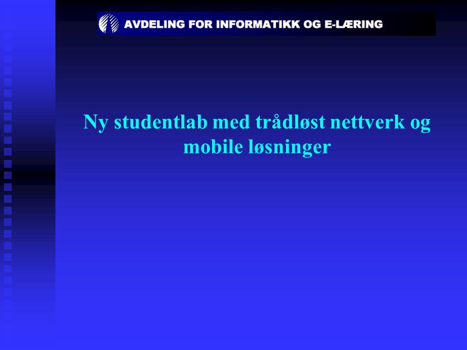 Ny studentlab med trådløst nettverk og mobile løsninger