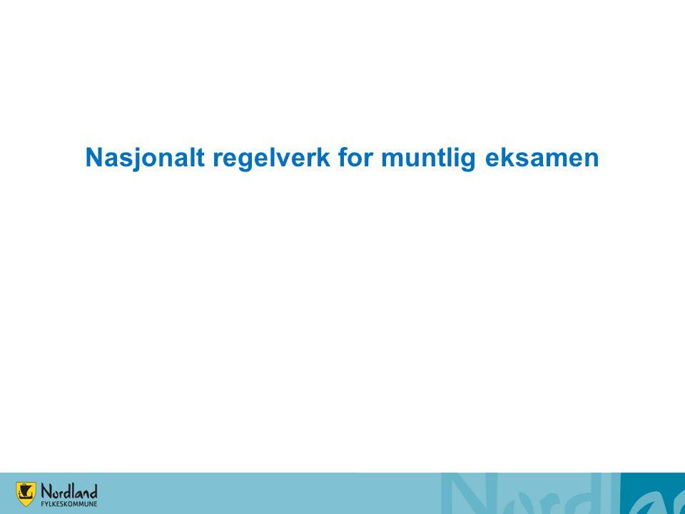 Nasjonalt regelverk for muntlig eksamen