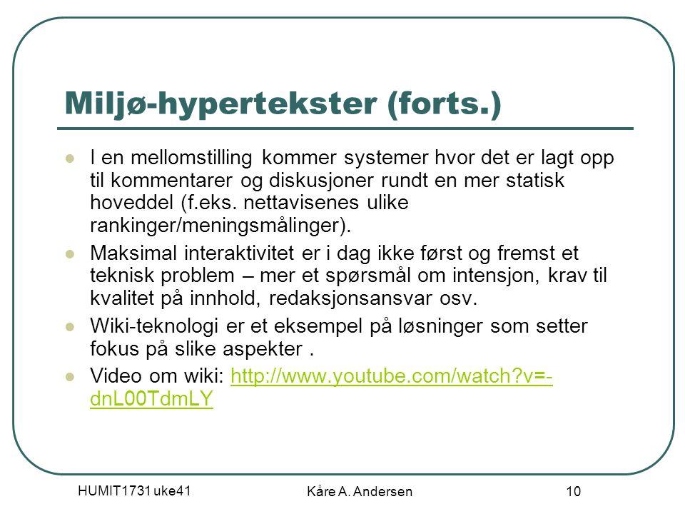 HUMIT1731 uke41 Kåre A.