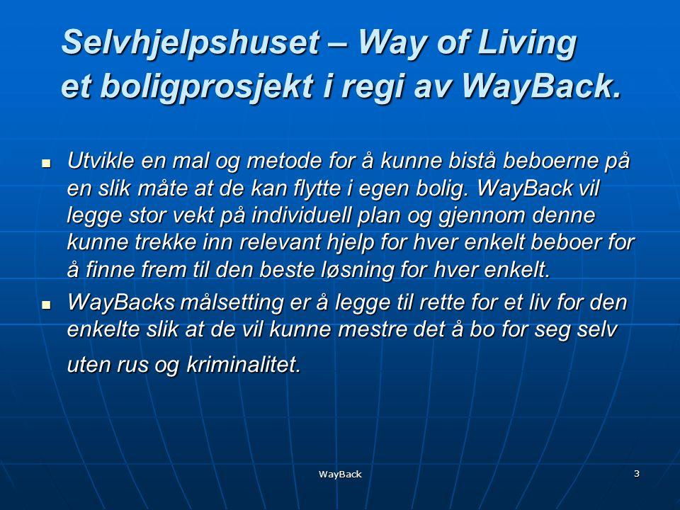 WayBack 3 Selvhjelpshuset – Way of Living et boligprosjekt i regi av WayBack.