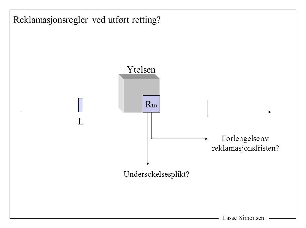 Lasse Simonsen L RmRm Ytelsen Forlengelse av reklamasjonsfristen.