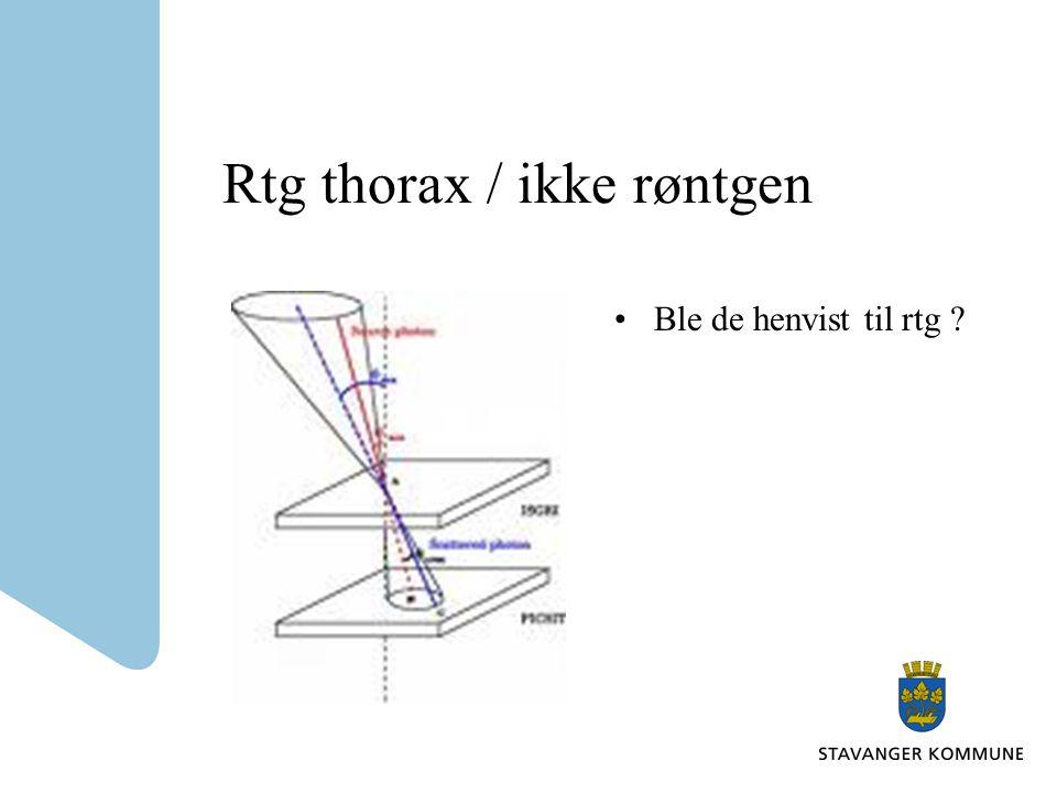 Rtg thorax / ikke røntgen Ble de henvist til rtg ?