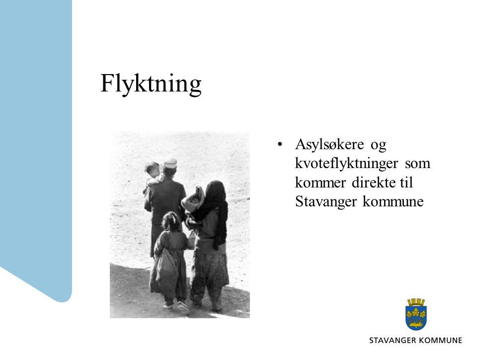Flyktning Asylsøkere og kvoteflyktninger som kommer direkte til Stavanger kommune