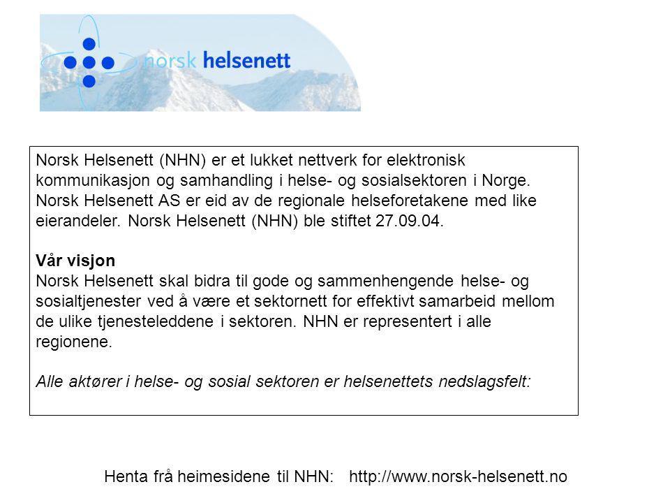 Norsk Helsenett (NHN) er et lukket nettverk for elektronisk kommunikasjon og samhandling i helse- og sosialsektoren i Norge. Norsk Helsenett AS er eid