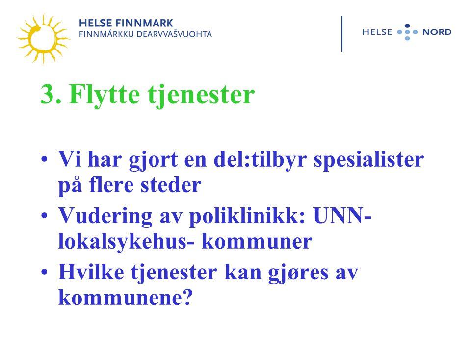 DPS Vest- Finnmark Spesialistpoliklinikken Finnmarksklinikken DPS Midt-Finnmark SANKS Spesialistlegesenteret DPS Øst-Finnmark Klinikk Kirkenes Poliklinikk Vadsø DPS Midt-Finnmark SANKS Klinikk Hammerfest DPS Vest- Finnmark