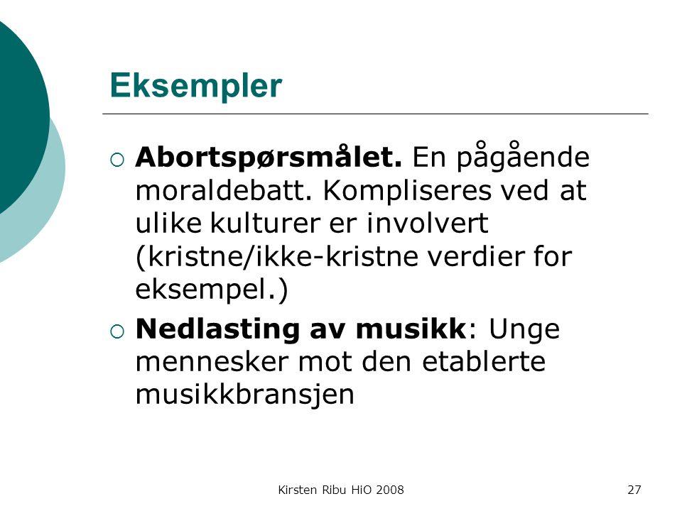 Kirsten Ribu HiO 200827 Eksempler  Abortspørsmålet.