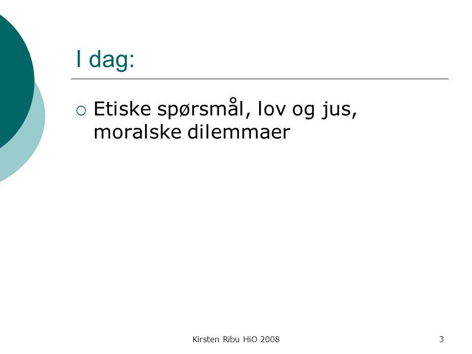 Kirsten Ribu HiO 200814 Eksempler på etiske dilemmaer  Er norsk flyktningpolitikk /praksis human .