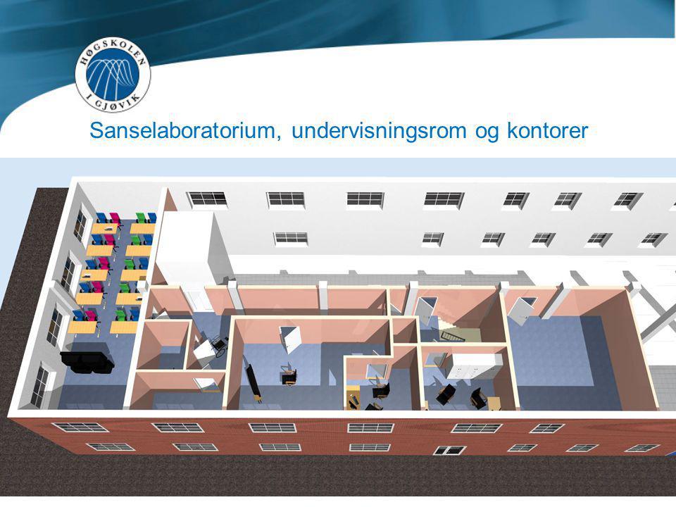 Sanselaboratorium, undervisningsrom og kontorer