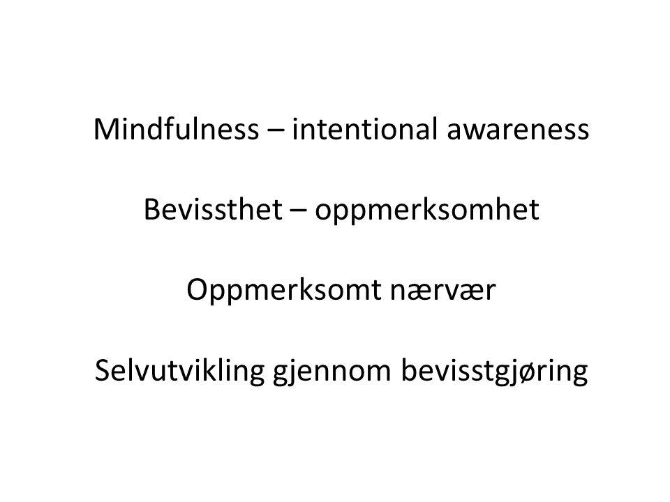Bøker om oppmerksomhetstrening (OT) - mindfulness : - Jon Kabat-Zinn: Wherever you go there you are.