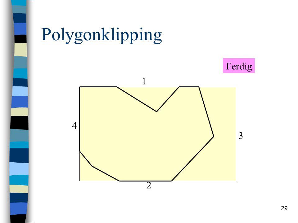 29 Polygonklipping 1 2 3 4 Ferdig