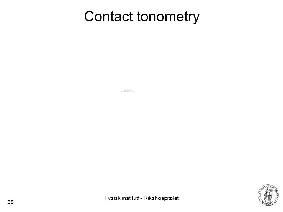 Fysisk institutt - Rikshospitalet 28 Contact tonometry