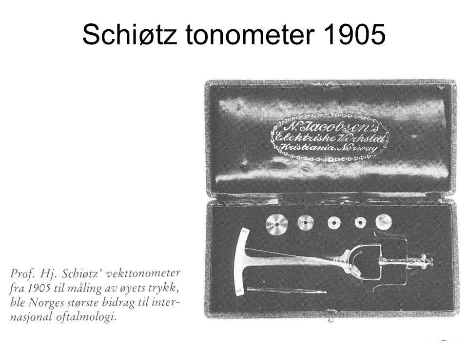 Fysisk institutt - Rikshospitalet 29 Schiøtz tonometer 1905