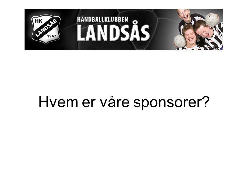 Hvem er våre sponsorer