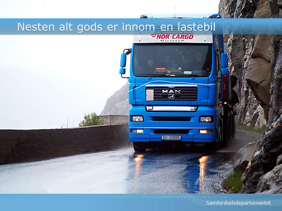 Nesten alt gods er innom en lastebil