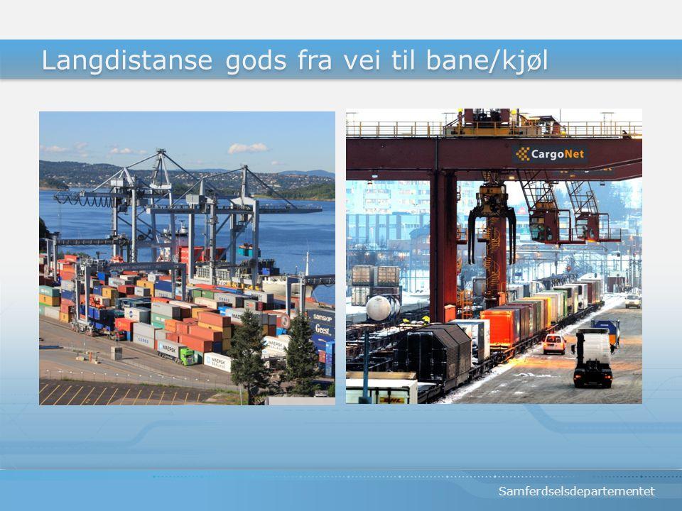 Samferdselsdepartementet Langdistanse gods fra vei til bane/kjøl
