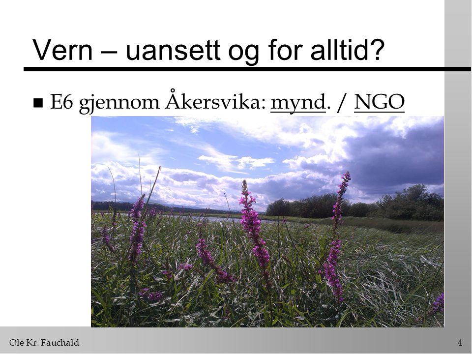 Ole Kr. Fauchald4 Vern – uansett og for alltid? n E6 gjennom Åkersvika: mynd. / NGOmyndNGO