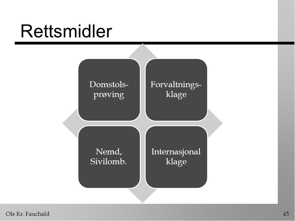 Ole Kr.Fauchald45 Rettsmidler Domstols- prøving Forvaltnings- klage Nemd, Sivilomb.