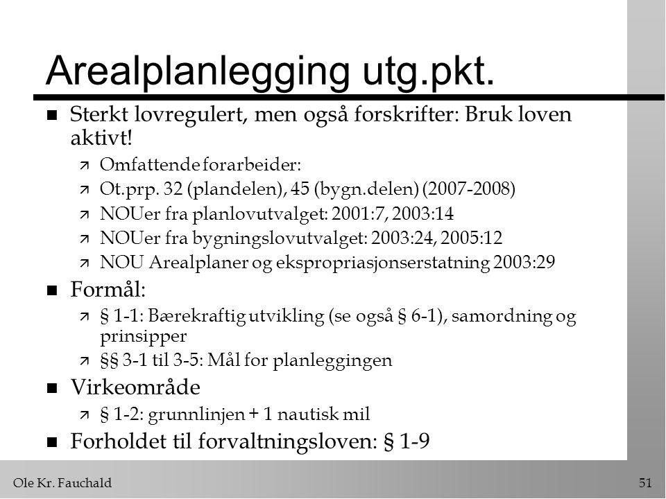 Ole Kr.Fauchald51 Arealplanlegging utg.pkt.
