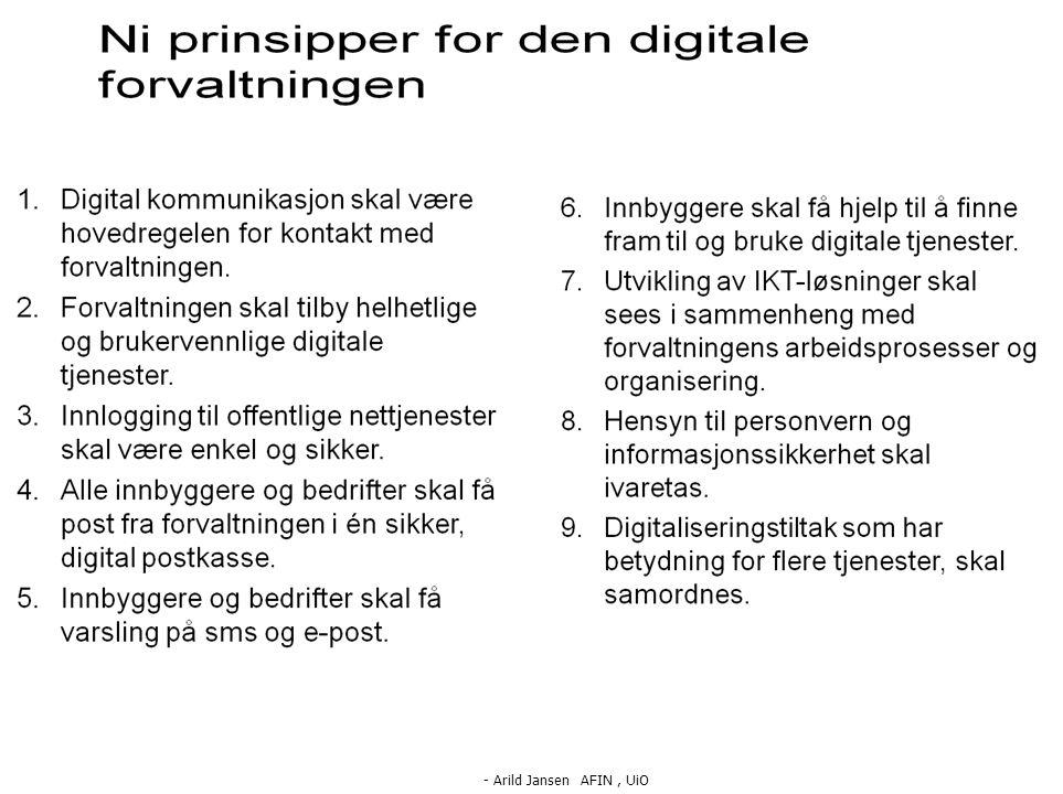- Arild Jansen AFIN, UiO