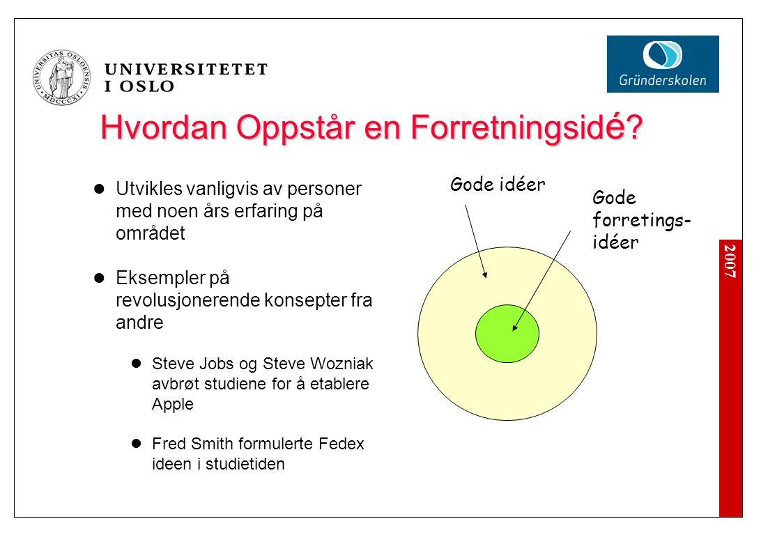 2007 Hvordan Oppstår en Forretningsid é .