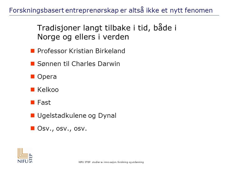 NIFU STEP studier av innovasjon, forskning og utdanning Det lokale kommersialiseringssystemet i Tromsø