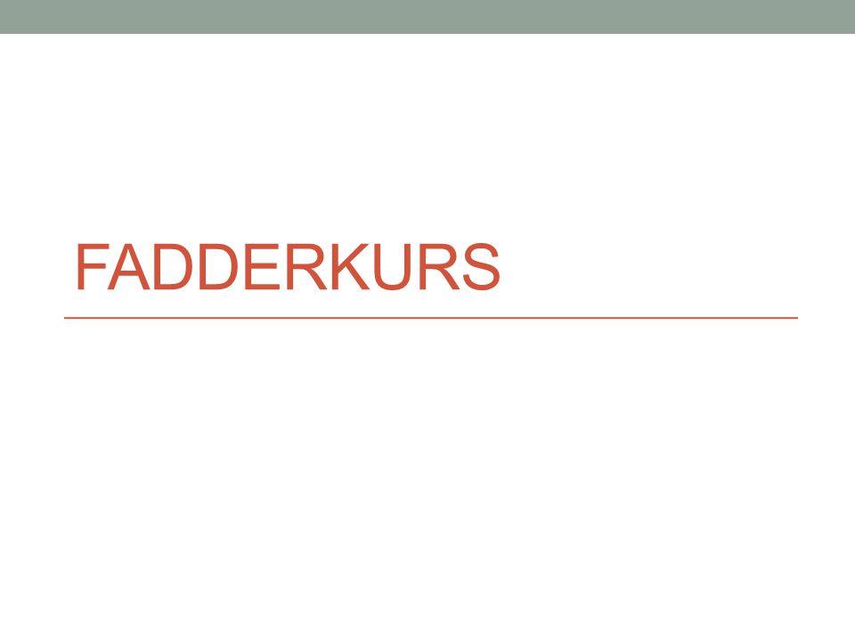 FADDERKURS