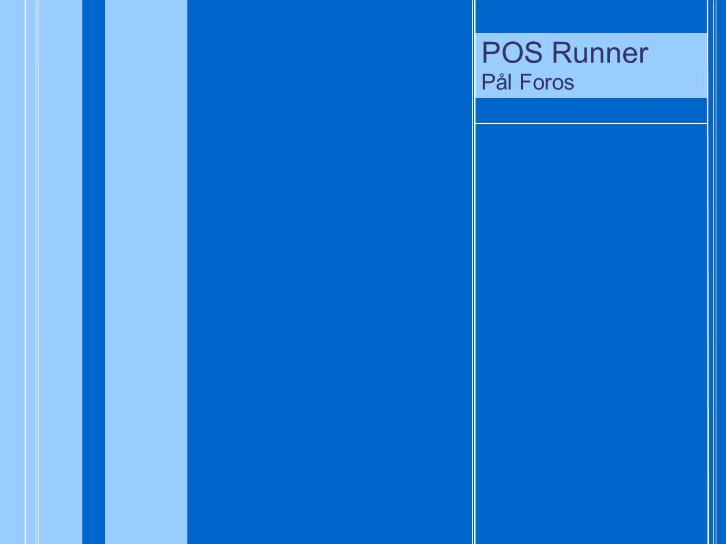 POS Runner Pål Foros POS Runner Pål Foros