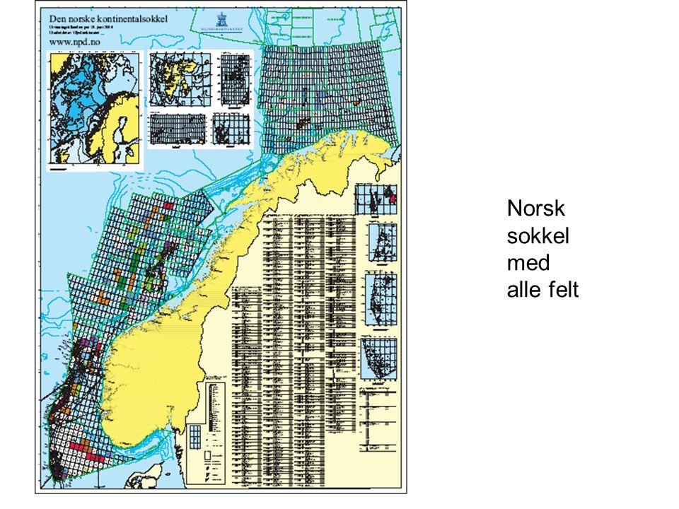 Norsk sokkel med alle felt