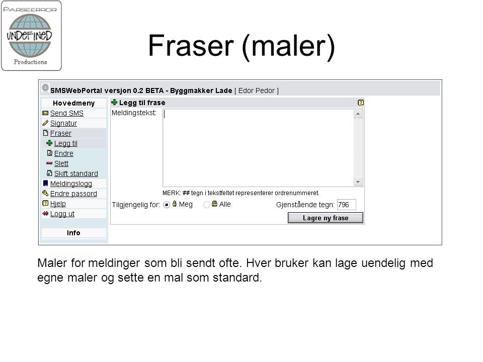 Fraser (maler) Maler for meldinger som bli sendt ofte.