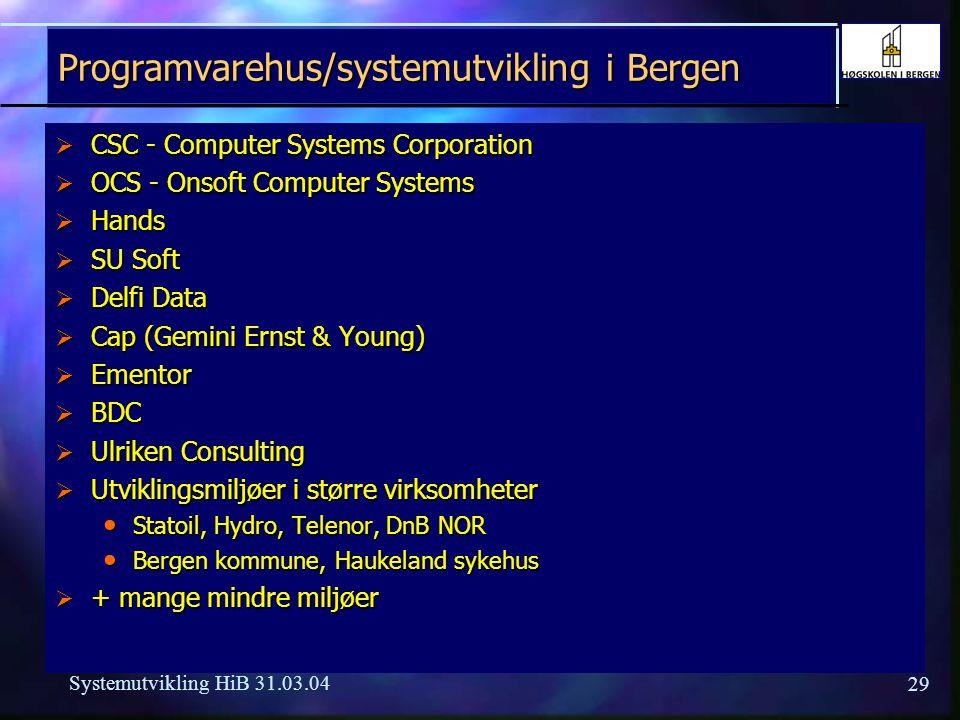Systemutvikling i Bergen
