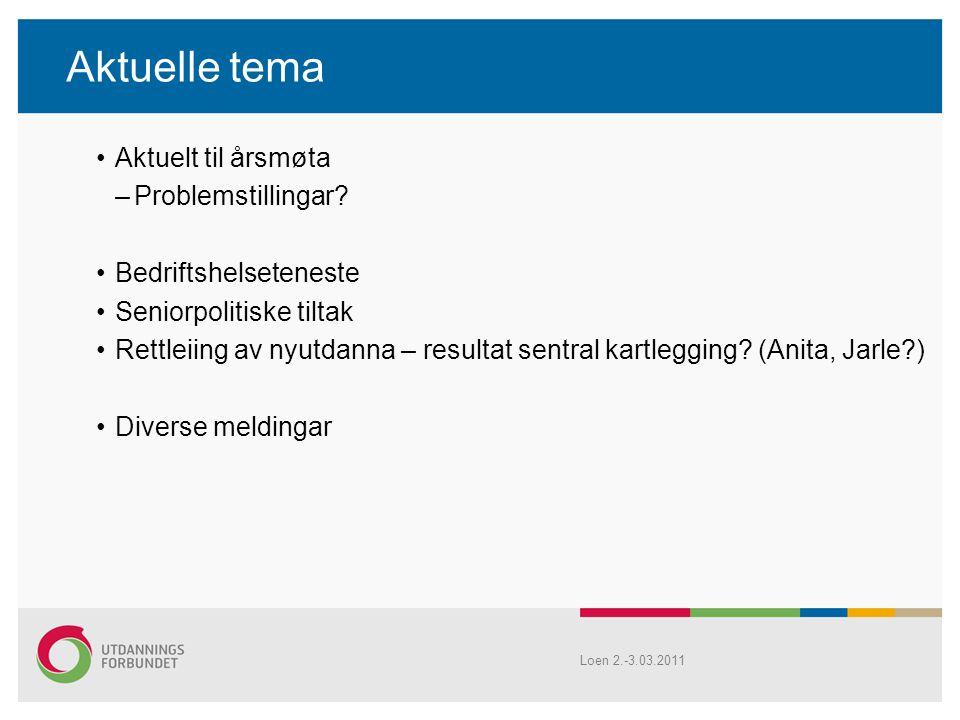 Aktuelle tema Aktuelt til årsmøta –Problemstillingar.