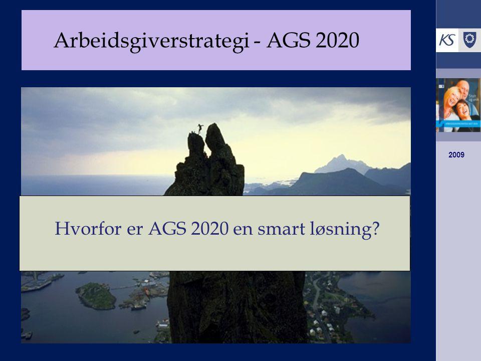 2009 Arbeidsgiverstrategi - AGS 2020 Hvorfor er AGS 2020 en smart løsning