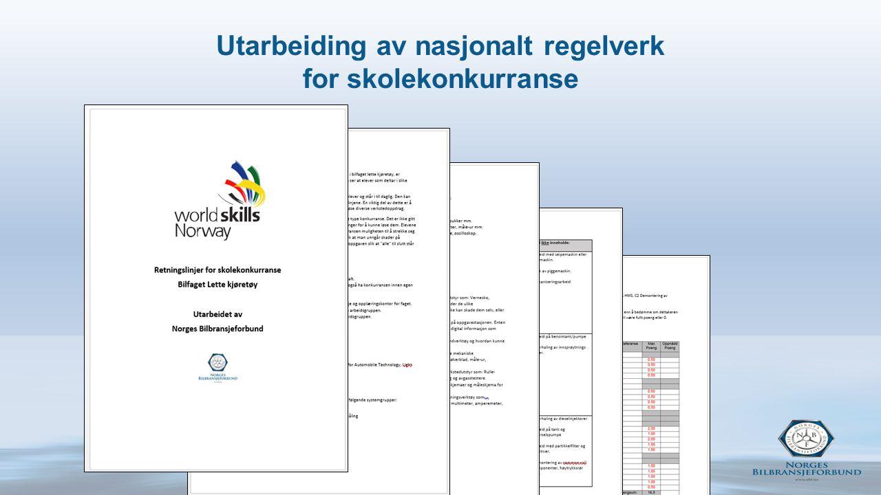 Utarbeiding av nasjonalt regelverk for skolekonkurranse