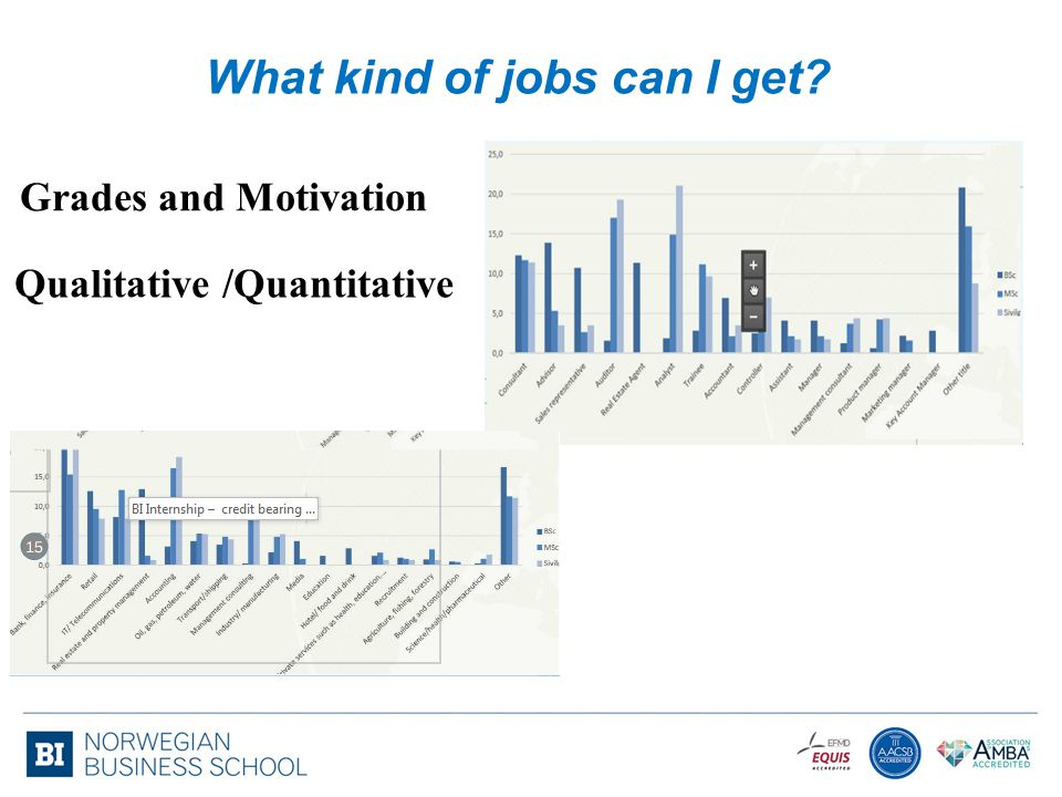 What kind of jobs can I get? Grades and Motivation Qualitative /Quantitative