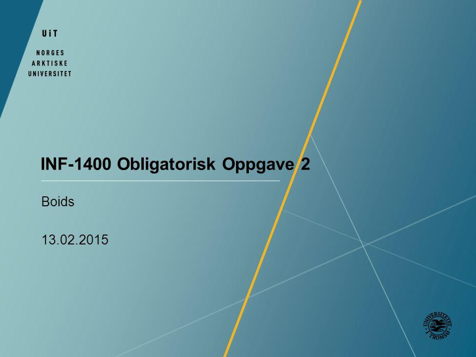 INF-1400 Obligatorisk Oppgave 2 Boids 13.02.2015
