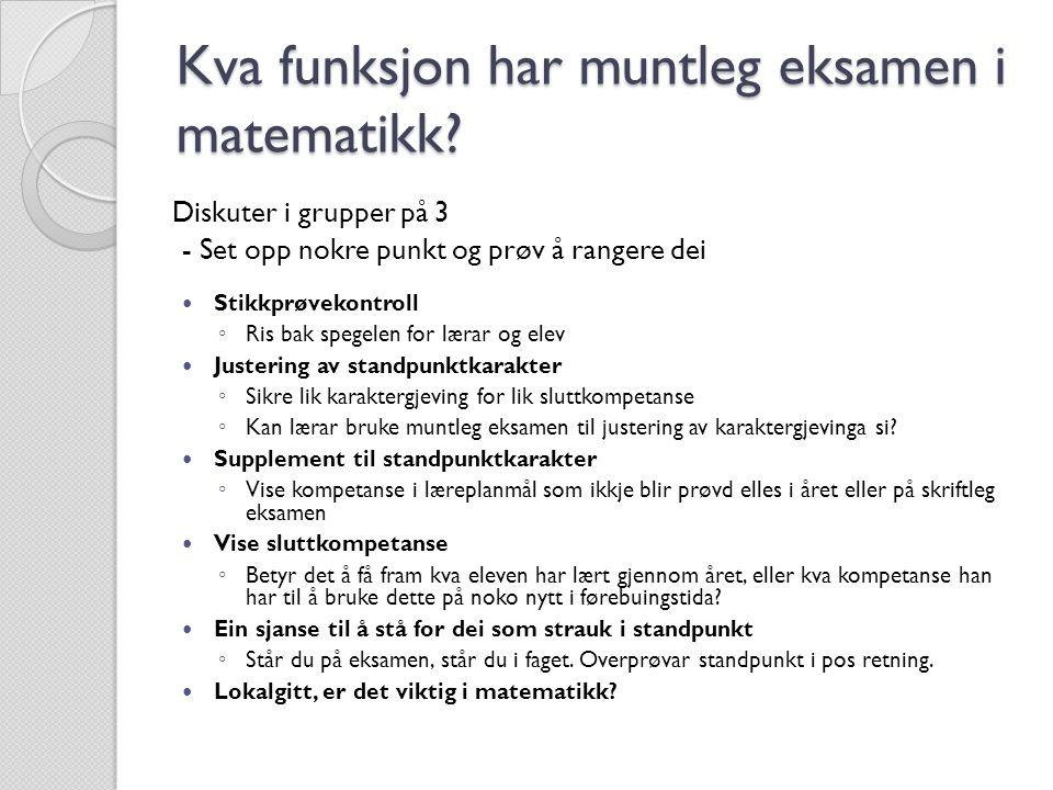 1.Informasjonen til elevane 2. Oppgåveformuleringa 3.