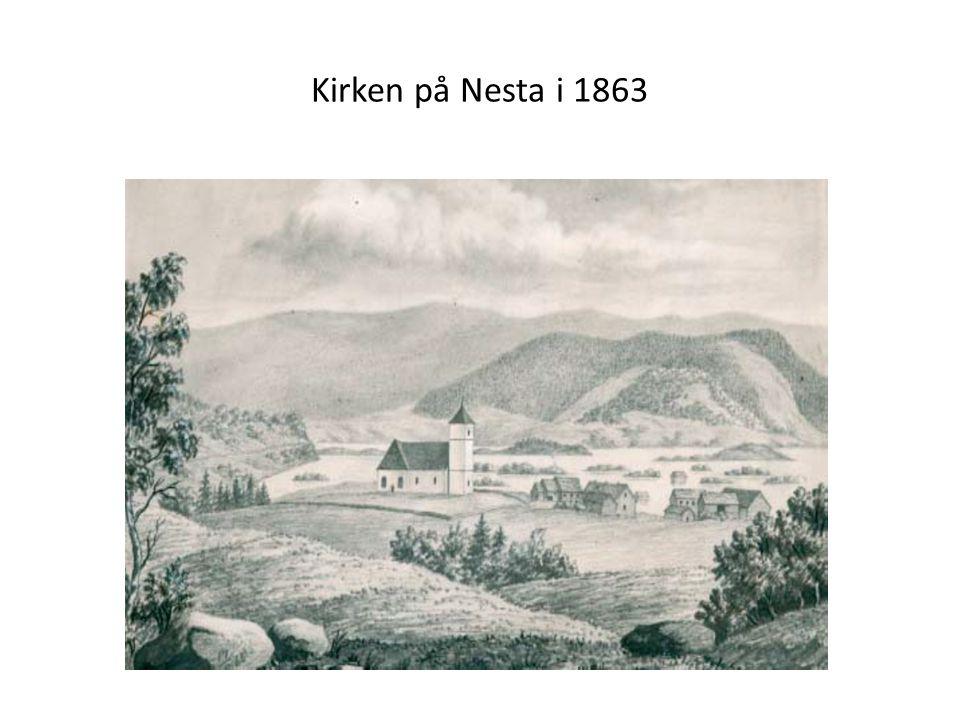 Kirken på Nesta i 1863