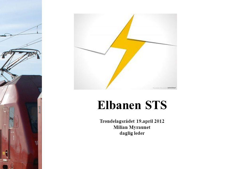 Elbanen STS Trøndelagsrådet 19.april 2012 Milian Myraunet daglig leder