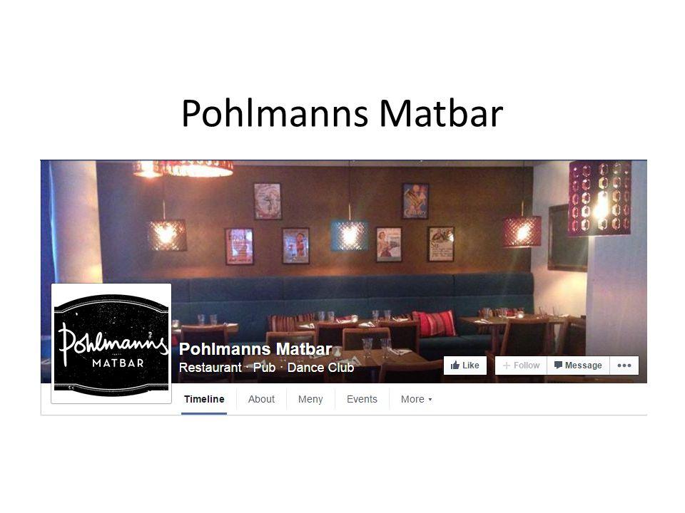 Pohlmanns Matbar